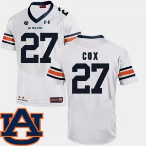 White #27 For Men's SEC Patch Replica Chandler Cox Auburn Jersey College Football 656939-777