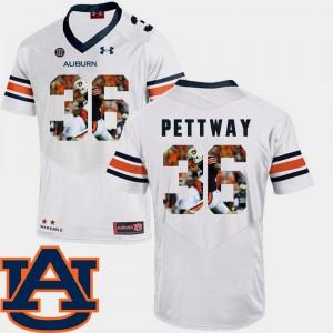 Men's Pictorial Fashion Cody Parkey Auburn Jersey #36 White Football 369405-941