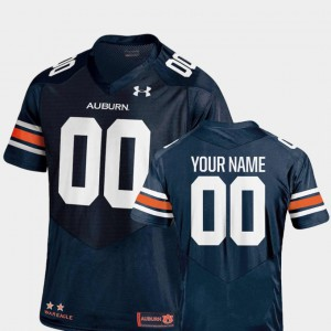 Auburn Custom Jersey Navy College Football #00 Mens 2018 TC 920137-542