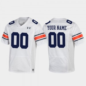 #00 White Auburn Custom Jersey Replica For Men Football 817008-636