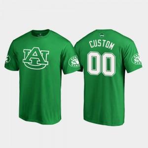 Auburn Custom T-Shirts St. Patrick's Day For Men White Logo Kelly Green #00 808271-346