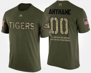 Camo Military Auburn Custom T-Shirts Short Sleeve With Message Men's #00 453740-965