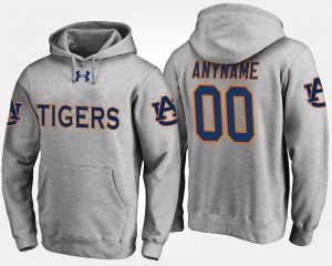 Auburn Customized Hoodie #00 Gray Men 866957-385