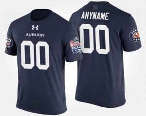 For Men Auburn Custom T-Shirt Peach Bowl Bowl Game Navy #00 484603-381