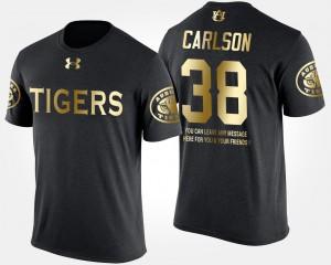 Short Sleeve With Message #38 Black Daniel Carlson Auburn T-Shirt Men Gold Limited 746408-869
