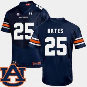 Daren Bates Auburn Jersey Navy College Football #25 SEC Patch Replica For Men 229590-760