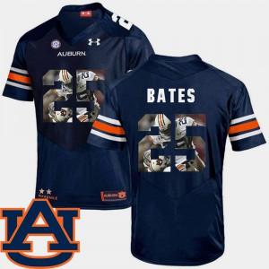Navy Football Daren Bates Auburn Jersey Pictorial Fashion #25 For Men's 621438-383