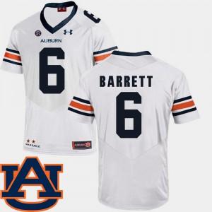 Devan Barrett Auburn Jersey College Football White SEC Patch Replica Men's #6 356928-658