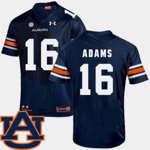 #16 College Football SEC Patch Replica Navy Mens Devin Adams Auburn Jersey 565651-955