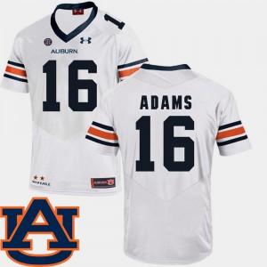 #16 Devin Adams Auburn Jersey White College Football Men SEC Patch Replica 205631-817