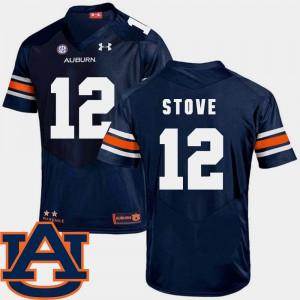 #12 Men SEC Patch Replica College Football Navy Eli Stove Auburn Jersey 591657-403