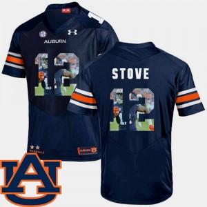 Pictorial Fashion Football #12 Navy Mens Eli Stove Auburn Jersey 299343-124