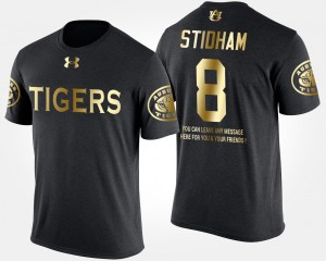 For Men Gold Limited #8 Short Sleeve With Message Black Jarrett Stidham Auburn T-Shirt 248169-375