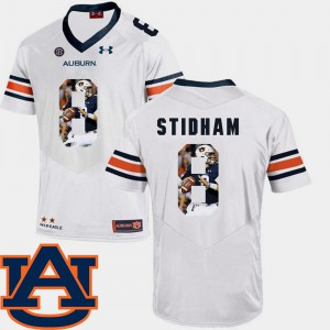 Men's #8 Pictorial Fashion Jarrett Stidham Auburn Jersey Football White 834530-730