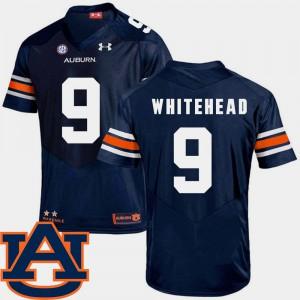 Navy For Men #9 College Football SEC Patch Replica Jermaine Whitehead Auburn Jersey 220182-583