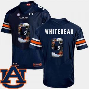 For Men Navy Jermaine Whitehead Auburn Jersey #9 Football Pictorial Fashion 876351-983