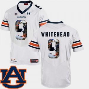 Mens White Jermaine Whitehead Auburn Jersey #9 Pictorial Fashion Football 379375-241