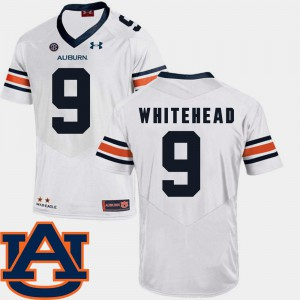 White Men's #9 College Football Jermaine Whitehead Auburn Jersey SEC Patch Replica 300975-394