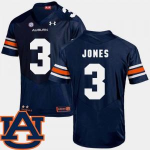 SEC Patch Replica Jonathan Jones Auburn Jersey College Football #3 For Men's Navy 669973-811