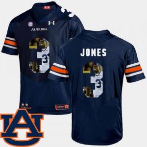 Football Jonathan Jones Auburn Jersey Navy Pictorial Fashion Men #3 813753-735