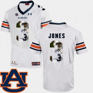 Pictorial Fashion White #3 Men's Jonathan Jones Auburn Jersey Football 331403-361