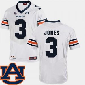 Jonathan Jones Auburn Jersey #3 White SEC Patch Replica College Football Men 320894-928