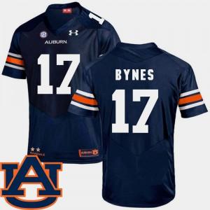 SEC Patch Replica #17 Men's Navy Josh Bynes Auburn Jersey College Football 323770-945