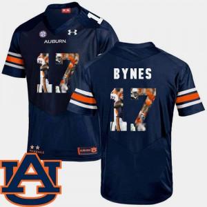 #17 For Men's Football Josh Bynes Auburn Jersey Navy Pictorial Fashion 186281-365