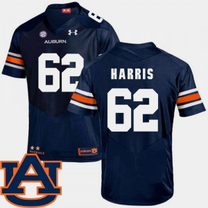 For Men #62 SEC Patch Replica College Football Josh Harris Auburn Jersey Navy 694993-791