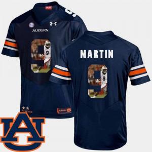 Football Kam Martin Auburn Jersey Mens Navy #9 Pictorial Fashion 210133-215