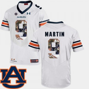 Pictorial Fashion White Kam Martin Auburn Jersey #9 Football For Men 215506-528