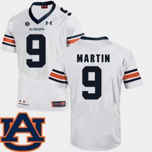 SEC Patch Replica Kam Martin Auburn Jersey For Men #9 College Football White 765451-656
