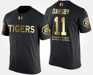 For Men #11 Short Sleeve With Message Gold Limited Karlos Dansby Auburn T-Shirt Black 508961-578
