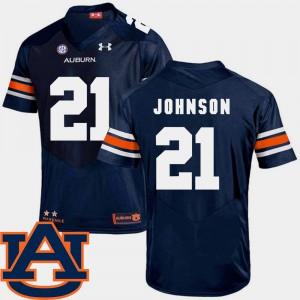 Navy #21 College Football Kerryon Johnson Auburn Jersey For Men SEC Patch Replica 124903-681