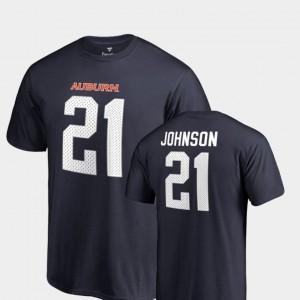 College Legends Men Kerryon Johnson Auburn T-Shirt #21 Navy Name & Number 865720-322
