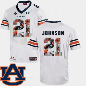 White Football Kerryon Johnson Auburn Jersey Pictorial Fashion #21 For Men 737836-235