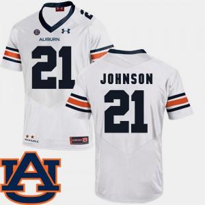 SEC Patch Replica College Football White #21 Mens Kerryon Johnson Auburn Jersey 488858-280