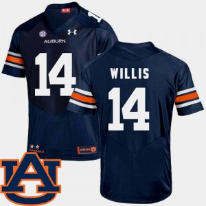 College Football Malik Willis Auburn Jersey Navy SEC Patch Replica For Men's #14 749593-445