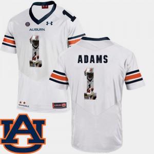 Pictorial Fashion Football #1 White Montravius Adams Auburn Jersey Men 976799-820