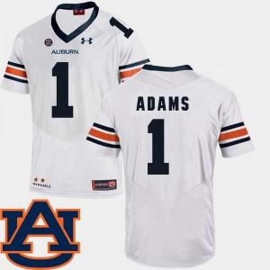 White #1 For Men Montravius Adams Auburn Jersey College Football SEC Patch Replica 949779-848