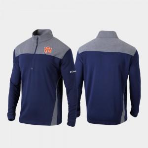 Navy Men's Quarter-Zip Pullover Omni-Wick Standard Auburn Jacket 212135-767