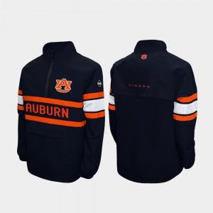 Auburn Jacket Quarter-Zip Navy Alpha Windshell Pullover Men 784633-309