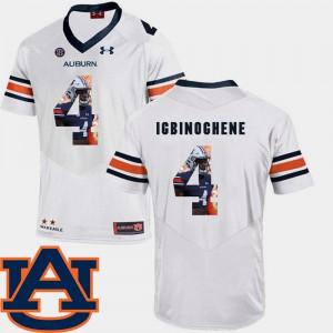 For Men Football White Pictorial Fashion #4 Noah Igbinoghene Auburn Jersey 585948-668