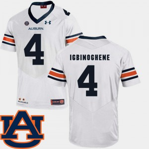 Noah Igbinoghene Auburn Jersey SEC Patch Replica For Men's #4 White College Football 194087-609