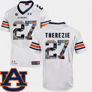 Robenson Therezie Auburn Jersey For Men's #27 Football White Pictorial Fashion 450318-377