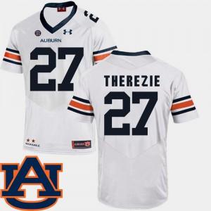 College Football #27 SEC Patch Replica Robenson Therezie Auburn Jersey White Men's 774729-602