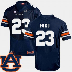 Navy SEC Patch Replica College Football Rudy Ford Auburn Jersey #23 For Men's 675300-792