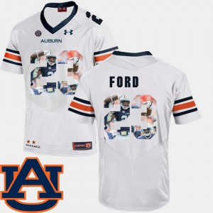 Pictorial Fashion Rudy Ford Auburn Jersey White #23 Football Mens 384706-445
