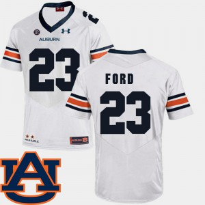 For Men #23 Rudy Ford Auburn Jersey College Football SEC Patch Replica White 407386-589