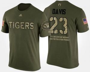 Military Ryan Davis Auburn T-Shirt Camo #23 Short Sleeve With Message Mens 692670-864